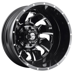 Fuel Wheels Cleaver Dually Rear D574 - Black & Milled Rim