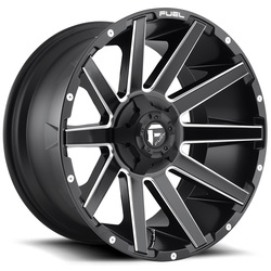 Fuel Wheels Contra D616 - Matte Black & Milled Rim - 22x10