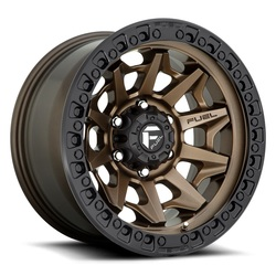 Fuel Wheels Covert D696 - Matte Bronze with Black Lip