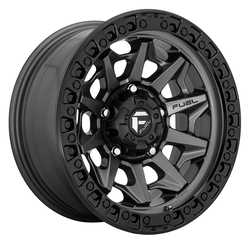 Fuel Wheels Covert D716 - Matte Gun Metal Black Bead Ring Rim