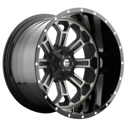 Fuel Wheels Crush D268 - Black & Machined with Dark Tint - 22x14
