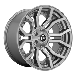 Fuel Wheels D713 Rage - Brushed Gunmetal Tinted Clear Rim