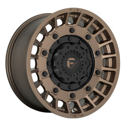 Fuel Wheels D725 Militia - Matte Bronze and Black Rim
