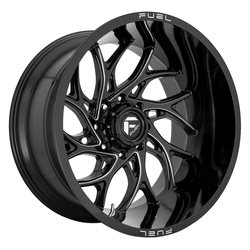 Fuel Wheels D741 Runner - Gloss Black Milled Rim - 22x10
