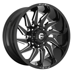 Fuel Wheels D744 Saber - Gloss Black Milled Rim - 22x10