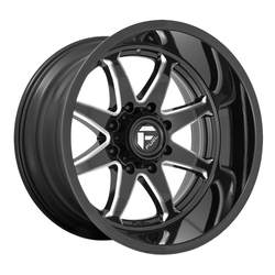 Fuel Wheels D749 Hammer - Gloss Black Milled Rim