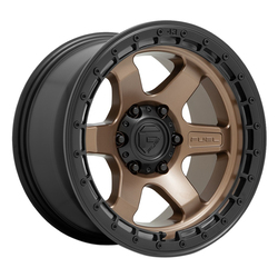 Fuel Wheels D751 Block - Matte Bronze w/Black Ring Rim