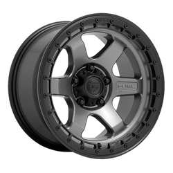 Fuel Wheels D752 Block - Matte Gunmetal w/Black Ring Rim