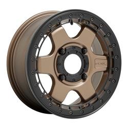 Fuel Wheels D924 Block Beadlock - Off Road Only - Matte Bronze With Black Ring Rim