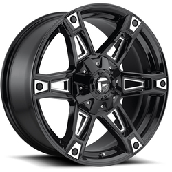 Fuel Dakar D622 - Gloss Black & Milled