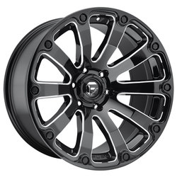 Fuel Wheels Fuel Wheels Diesel D598 - Black & Milled