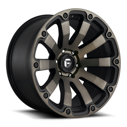Fuel Diesel D636 - Black & Machined with Dark Tint