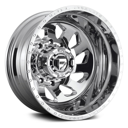 Fuel Wheels FF39 Dually - Polished Rim - 22x8.25