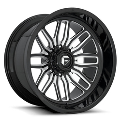 Fuel Wheels FFC66 - Gloss Black with Milled Spoke Edges