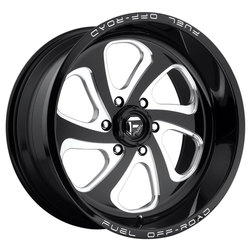 Fuel Wheels Flow 8 D587 - Black & Milled Rim - 20x12