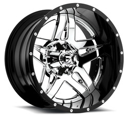 Fuel Wheels Fuel Wheels Full Blown D253 - Black / Chrome