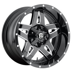 Fuel Wheels Fuel Wheels Full Blown D554 - Gloss Black & Milled