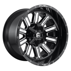 Fuel Wheels Hardline D620 - Gloss Black & Milled Rim - 22x10