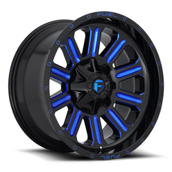 Fuel Wheels Hardline D646 - Gloss Black with Candy Blue