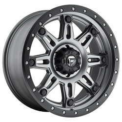 Fuel Wheels Hostage III D568 - Matte Anthracite with Black Ring