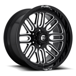 Fuel Wheels Ignite D662 - Gloss Black & Milled Rim - 22x10