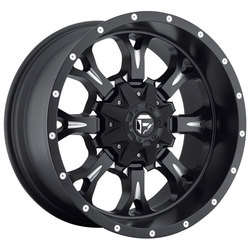 Fuel Wheels Krank D517 - Matte Black & Milled - 22x11