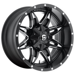 Fuel Wheels Lethal D567 - Black & Milled - 22x11