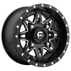 Fuel Wheels Lethal D567 UTV - Black & Milled Rim - 15x7