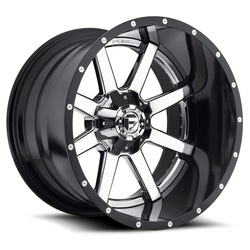Fuel Wheels Maverick D260 - Chrome with Gloss Black Lip Rim - 24x12