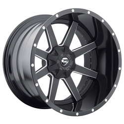 Fuel Wheels Maverick D262 - Black & Milled - 22x14