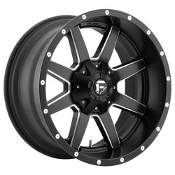 Fuel Wheels Maverick D538 - Black & Milled Rim - 22x10