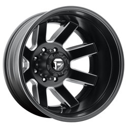Fuel Wheels Maverick Dually Rear D538 - Black & Milled Rim - 22x8.25