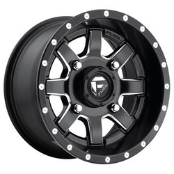 Fuel UTV Wheels Maverick D538 - Black & Milled Rim - 18x7
