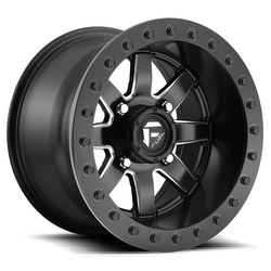 Fuel Wheels Maverick Beadlock D928 UTV - Black & Milled Rim - 14x8