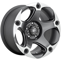 Fuel Wheels Fuel Wheels Menace D684 - Matte Anthracite / Machined