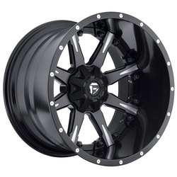 Fuel Wheels Nutz D251 - Matte Black & Milled - 22x14