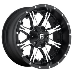 Fuel Wheels Nutz D541 - Black & Machined - 22x12