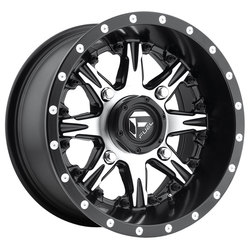 Fuel Wheels Nutz D541 UTV - Black & Machined Face Rim - 14x7