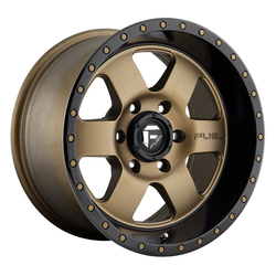 Fuel Wheels Podium D617 - Bronze with Black Lip Rim - 17x9