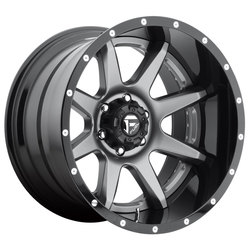 Fuel Wheels Rampage D238 - Anthracite w/Gloss Black Lip - 22x12