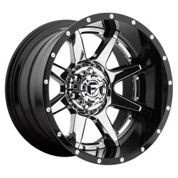 Fuel Wheels Rampage D247 - Chrome Center, Gloss Black Outer - 22x12