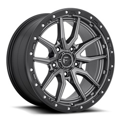 Fuel Wheels Rebel 5 D680 - Matte Gunmetal Black Bead Ring Rim