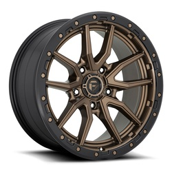 Fuel Wheels Rebel 5 D681 - Matte Bronze Black Bead Ring Rim