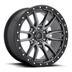Fuel Wheels Rebel 6 D680 - Matte Gunmetal Black Bead Ring Rim