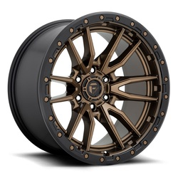 Fuel Wheels Rebel 6 D681 - Matte Bronze Black Bead Ring Rim