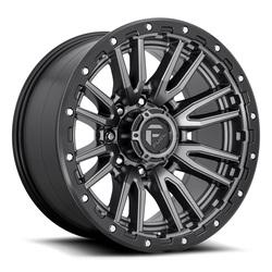 Fuel Wheels Rebel 8 D680 - Matte Gunmetal Black Bead Ring Rim