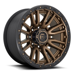 Fuel Wheels Rebel 8 D681 - Matte Bronze Black Bead Ring Rim