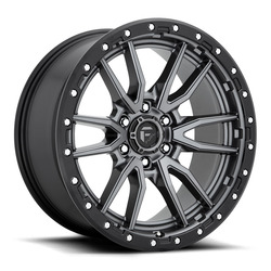 Fuel Wheels Rebel D680 - Matte Anthracite / Black Rim - 22x10