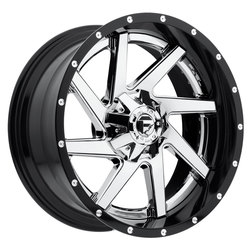 Fuel Wheels Renegade D263 - Chrome Center, Gloss Black Outer - 22x14