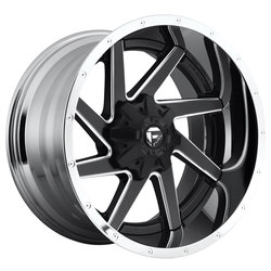 Fuel Wheels Renegade D264 - Matte Black with Chrome Lip